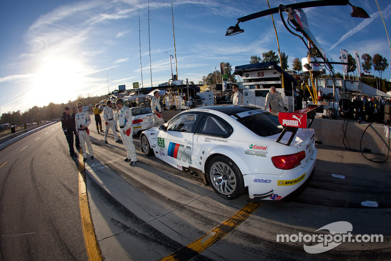 BMW Team RLL pit area