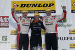 Round 30 Podium: 1st Frank Wrathall, 2nd Matt Neal, 3rd Gordon Shedden