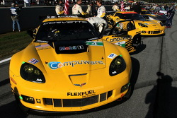 Corvette Racing Chevrolet Corvette C6 ZR1 on the starting grid