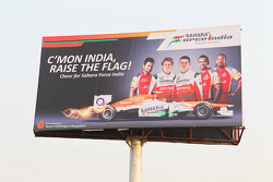 A Sahara Force India F1 Team billboard
