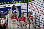 Podium: third place Marcel Fssler, Benoit Trluyer, Andre Lotterer