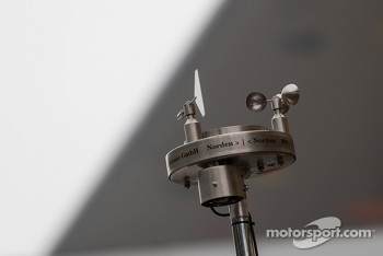 Weather vane for Toyota racing monitoring changing conditions at Shanghai circuit