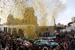 Podium celebration