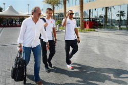 Lewis Hamilton, McLaren with Didier Coton, Driver Manager, and Antti Vierula, Personal Trainer