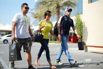 Pastor Maldonado, Williams with girlfriend Gabriella Tarkany