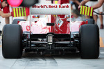 Fernando Alonso, Ferrari rear wing and rear diffuser detal