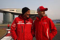 Gabriele Tarquini, SEAT LeÛn WTCC, Lukoil Racing Team and Tiago Monteiro, Honda Civic Super 2000 TC, Honda Racing Team Jas