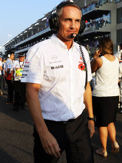 Martin Whitmarsh, McLaren Chief Executive Officer on the grid