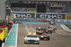 Lewis Hamilton, McLaren leads behind the Safety Car