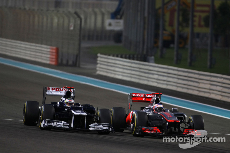 Pastor Maldonado, Williams F1 Team and Jenson Button, McLaren Mercedes