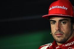 Second placed Fernando Alonso, Ferrari in the FIA Press Conference
