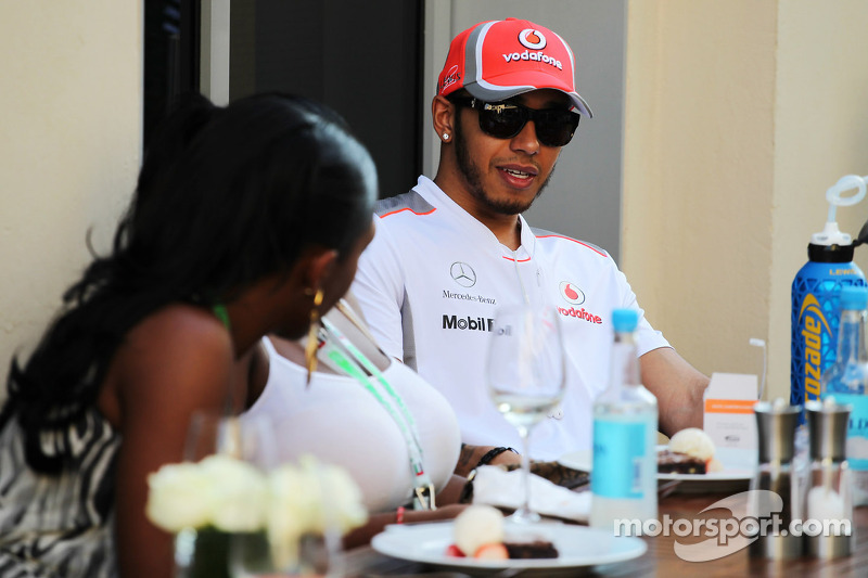 Lewis Hamilton, McLaren with guests