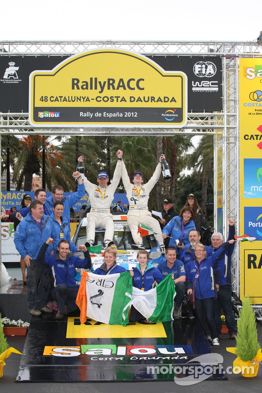 Podium: Craig Breen and Paul Nagle, Ford Fiesta S2000