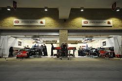 McLaren Mercedes team area