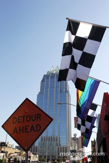 Chequered flags in Austin
