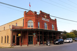 The tourist town of Gruene, around one hour's drive south west of Austin