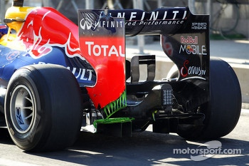 Mark Webber, Red Bull Racing running flow-vis paint