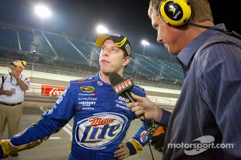 Brad Keselowski, Penske Racing Dodge gets provisional pole after his qualifying run