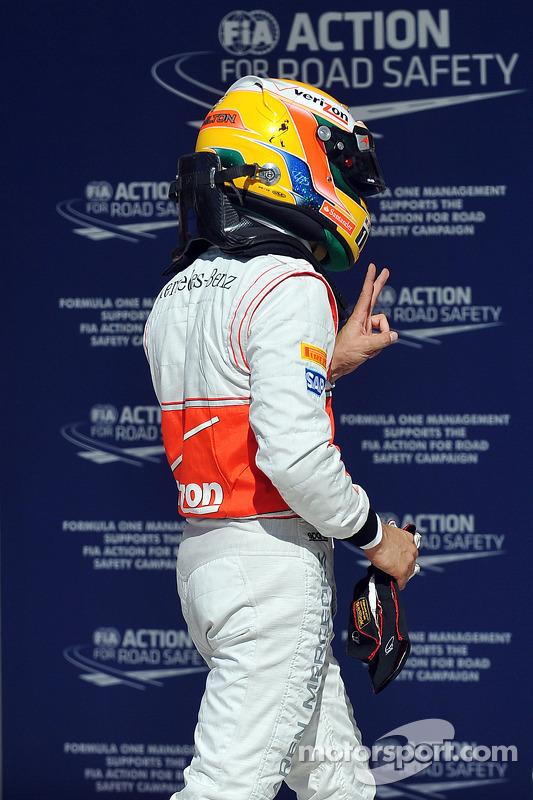 Second place Lewis Hamilton, McLaren Mercedes