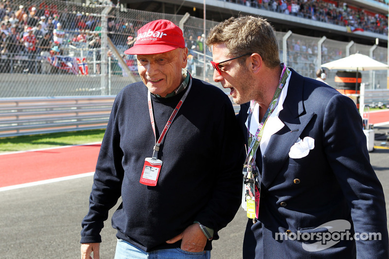 Niki Lauda, Mercedes Non-Executive Chairman with Lapo Elkann