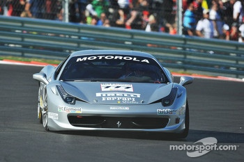 #777 Ferrari Quebec 458: Emmanuel Anassis leads