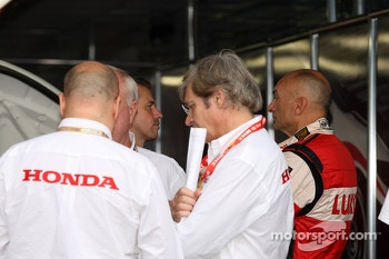 Tiago Monteiro, Team Principal, Honda Racing Team Jas  and Gabriele Tarquini, SEAT Leon WTCC, Lukoil Racing Team