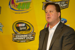 Press conference presentating the paint scheme template on the 2013 Sprint Cup cars: Brian France