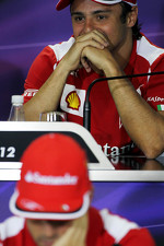 Felipe Massa, Ferrari and Fernando Alonso, Ferrari in the FIA Press Conference