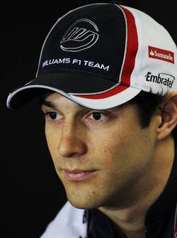Bruno Senna, Williams in the FIA Press Conference