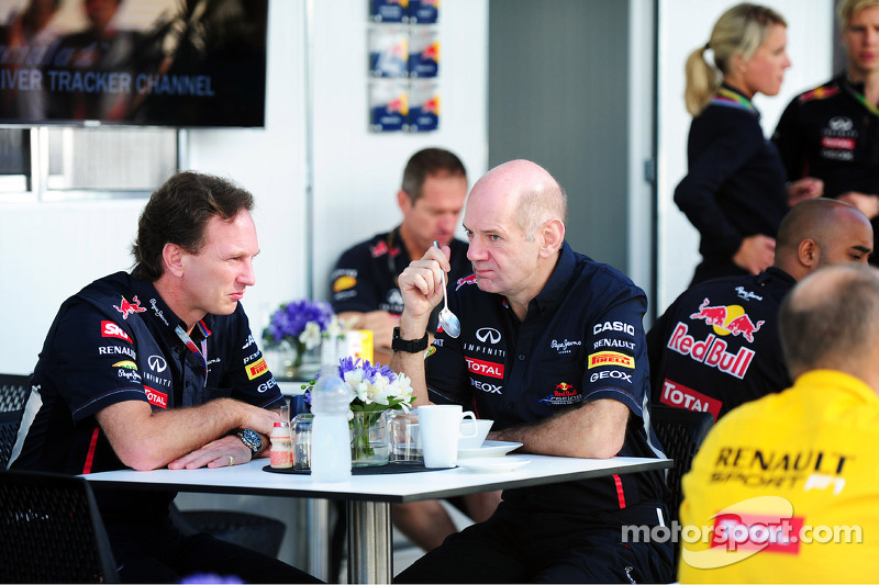 Christian Horner, Red Bull Racing Team Principal and Adrian Newey, Red Bull Racing Chief Technical Officer
