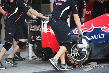 Sensor device on the Red Bull Racing rear wing