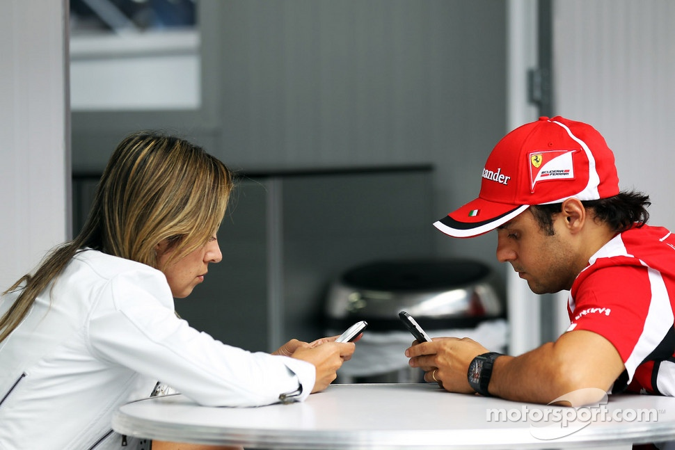 Felipe Massa, Ferrari with wife Rafaela Bassi