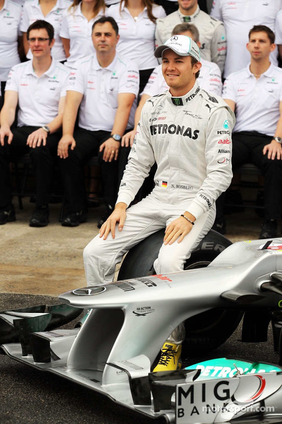 Nico Rosberg, Mercedes AMG F1 at a  F1 team photograph