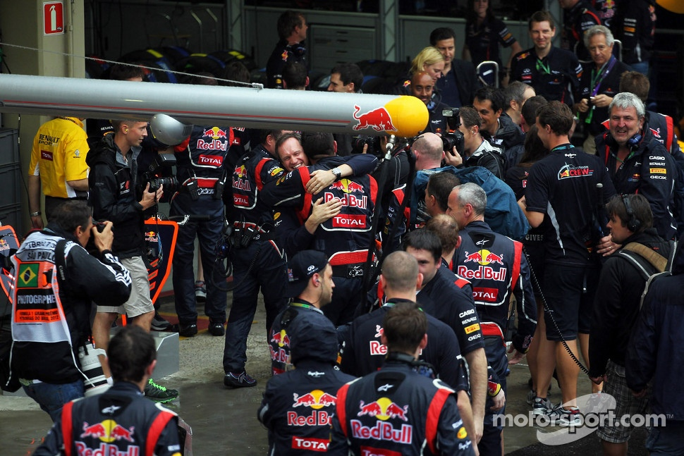 Red Bull Racing celebrates the World Championship for Sebastian Vettel, Red Bull Racing