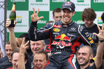Sebastian Vettel, Red Bull Racing celebrates with the team