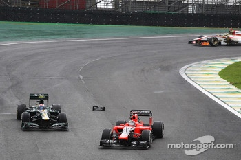 Timo Glock, Marussia F1 Team and Vitaly Petrov, Caterham