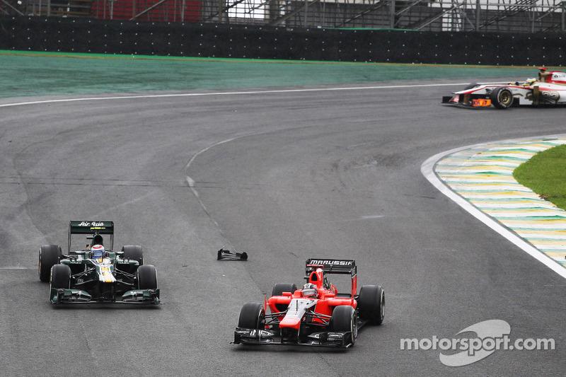 Timo Glock, Marussia F1 Team and Vitaly Petrov, Caterham