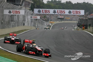 McLaren Mercedes Lewis Hamilton and Jenson Button