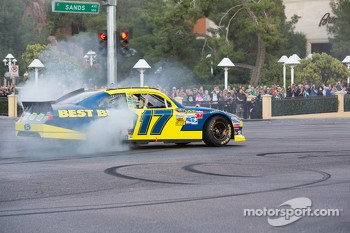 Matt Kenseth does a burnout