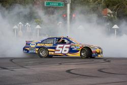 Martin Truex Jr. does a burnout
