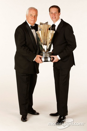 2012 champion Brad Keselowski with team owner Roger Penske