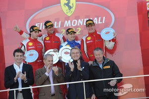 Finali Trofeo Pirelli podium: race winner Alessandro Balzan, second place, Lorenzo Case, third place Enzo Potolicchio