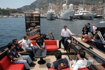 Founder Fredrik Johnsson present the Race of Champions in Bangkok