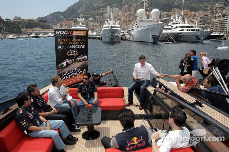 Founder Fredrik Johnsson present the Race of Champions in Bangkok