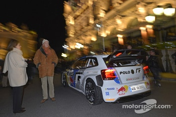 Sébastien Ogier and Julien Ingrassia arrive in the new Volkswagen Polo R WRC