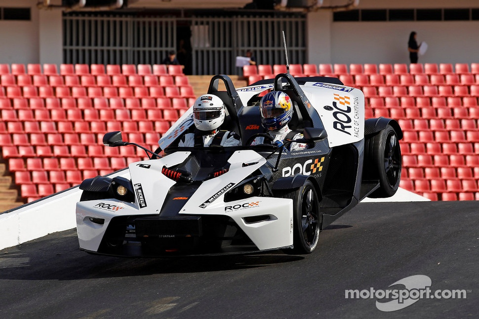KTM X-Bow, an ultra-light sports car for road and race use, produces about 237 hp.