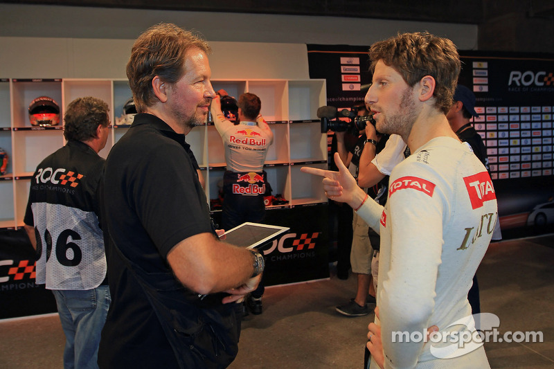 ROC founder Fredrik Johnsson and Romain Grosjean