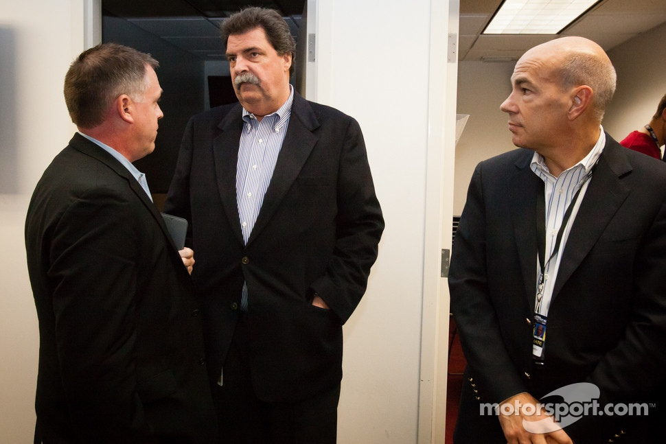 NASCAR President Mike Helton and ALMS President Scott Atherton