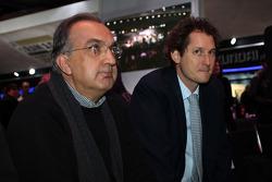 Sergio Marchionne (ITA), Ceo Fiat en John Elkann (ITA), President Fiat