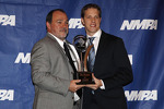 Brad Keselowski, Penske Racing Ford at the National Motorsports Press Association awards ceremony